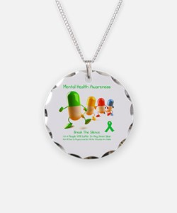 Mental Health Awareness Necklace Circle Charm