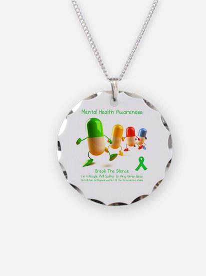 Mental Health Awareness Necklace Circle Charm