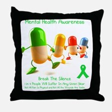 Mental Health Awareness Throw Pillow