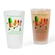 Mental Health Awareness Drinking Glass