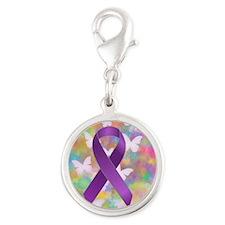 Purple Awareness Ribbon Charms