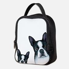 Dog 128 Boston Terrier Neoprene Lunch Bag