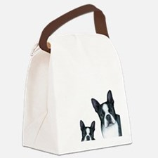 Dog 128 Boston Terrier Canvas Lunch Bag
