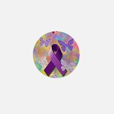 Purple Awareness Ribbon Mini Button (100 pack)