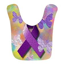 Purple Awareness Ribbon Bib