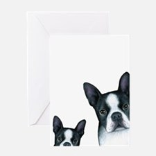 Dog 128 Boston Terrier Greeting Cards
