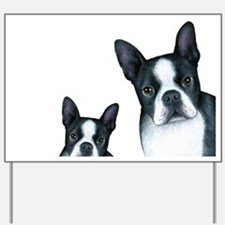 Dog 128 Boston Terrier Yard Sign