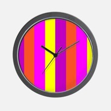 Yellow Candy Stripes Andrea's Fave Wall Clock