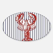blue nautical stripes vinta Decal