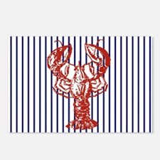 blue nautical stripes vin Postcards (Package of 8)