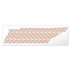 Tennessee Chevron Bumper Sticker