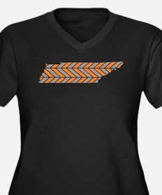 Tennessee Chevron Plus Size T-Shirt