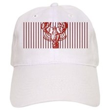 nautical red white stripes lobster Baseball Cap
