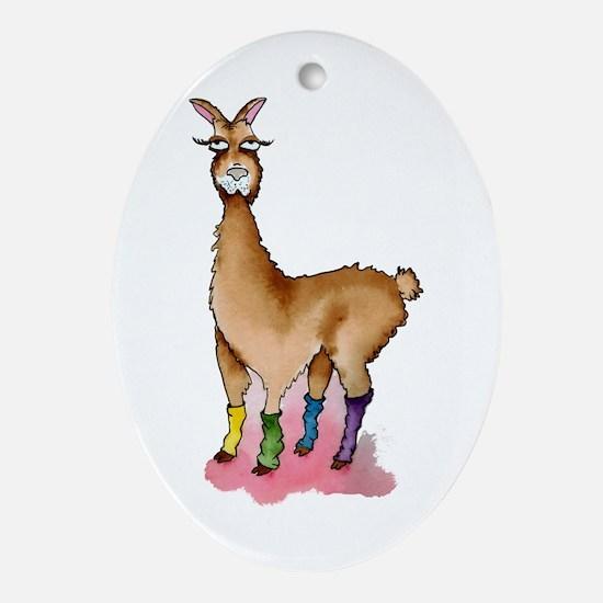 Lady Llams Oval Ornament