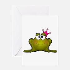 Sweet Princess Frog Greeting Cards