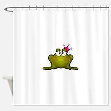 Sweet Princess Frog Shower Curtain