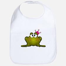 Sweet Princess Frog Bib