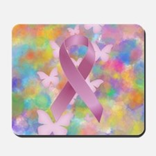 Pink Awareness Ribbon Mousepad