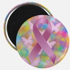 Pink Awareness Ribbon Magnets