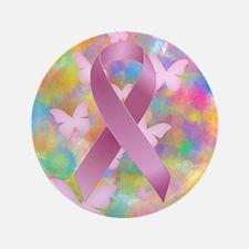 "Pink Awareness Ribbon 3.5"" Button (100 pack)"