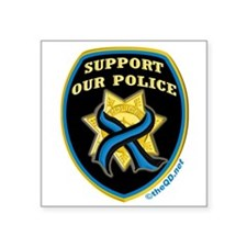 "Cool Fallen officers Square Sticker 3"" x 3"""