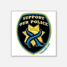 "Cute Police tribute Square Sticker 3"" x 3"""