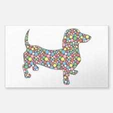 Dachshund Polka Dots Decal