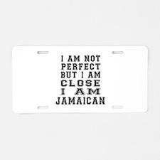 Jamaican Designs Aluminum License Plate