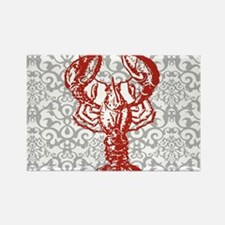 gray damask red lobster Magnets