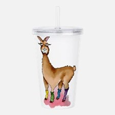 Lady Llams Acrylic Double-wall Tumbler