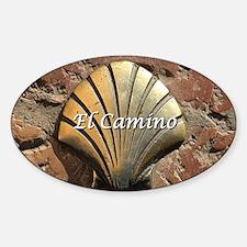 El Camino gold shell, Leon,Spain (c Sticker (Oval)