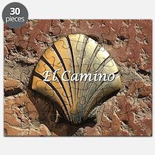 El Camino gold shell, Leon,Spain (caption) Puzzle