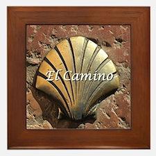 El Camino gold shell, Leon,Spain (capt Framed Tile