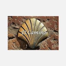 El Camino gold shell, Leon,Spain  Rectangle Magnet