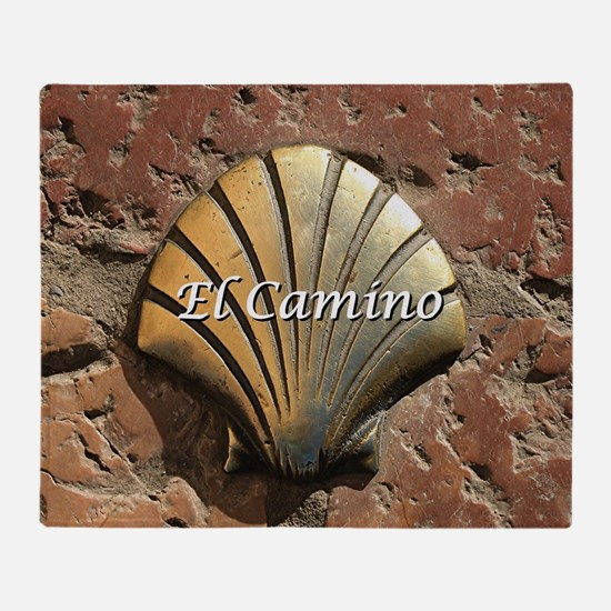 El Camino gold shell, Leon,Spain (ca Throw Blanket