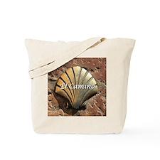 El Camino gold shell, Leon,Spain (caption Tote Bag