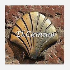 El Camino gold shell, Leon,Spain (cap Tile Coaster