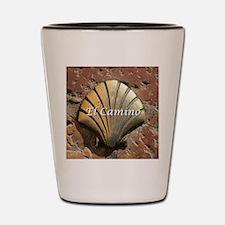 El Camino gold shell, Leon,Spain (capti Shot Glass