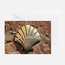 El Camino gold shell, Leon,Spain (ca Greeting Card