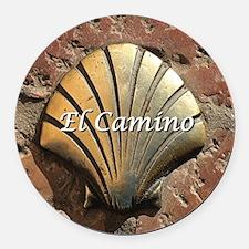 El Camino gold shell, Leon,Spain  Round Car Magnet
