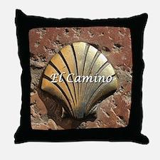 El Camino gold shell, Leon,Spain (cap Throw Pillow