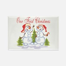 Our First Christmas (Snowmen) Rectangle Magnet