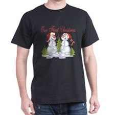 Our First Christmas (Snowmen) T-Shirt