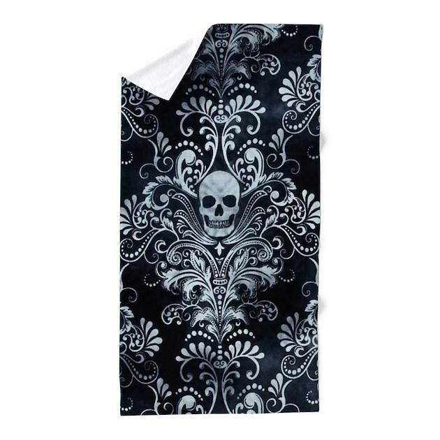 Skulls Beach Towel by Admin CP