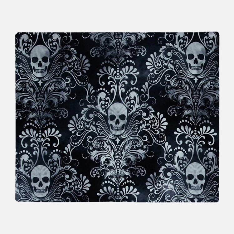 Skulls Throw Blanket