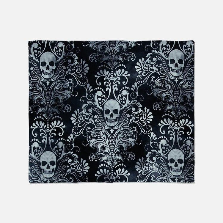 Skulls Throw Blanket
