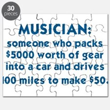 MUSICIAN: SOMEONE WHO PACKS $5000 WORTH OF  Puzzle