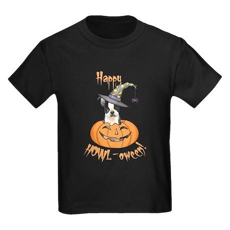 Halloween Boston Terrier Kids Dark T-Shirt