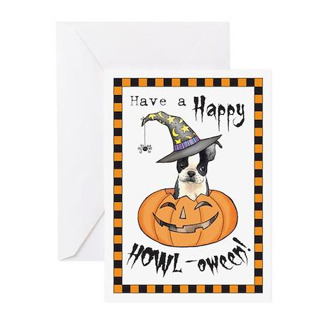 Halloween Boston Terrier Greeting Cards (Pk of 10)