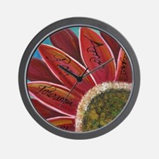 flower with positive words Wall Clock